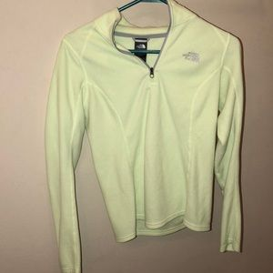 Lime green the north face jacket
